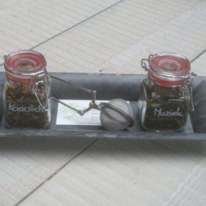 cadeau Anja met thee
